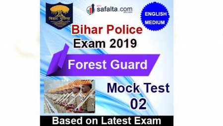 Bihar Police Forest Guard Mock Test 02 In English