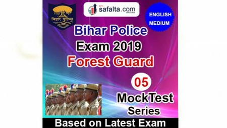 Buy Bihar Police Forest Guard 05 Mock Test Series In English @ safalta.com