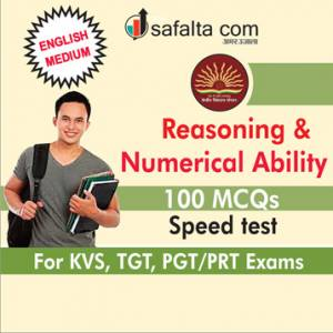 KVS Reasoning And Numerical Ability TGT, PGT/PRT-English