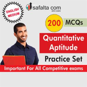 200 Mcqs Quantitative Aptitude Practice Set-English
