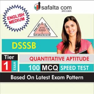 100 Mcqs Quantitative Aptitude Speed Test For DSSSB In English
