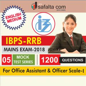 05 Mock Test Series For IBPS RRB Mains Office Assistant and Officer Scale I Exam In English