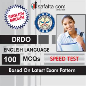 100 Mcqs English Language Practice Questions For DRDO In English
