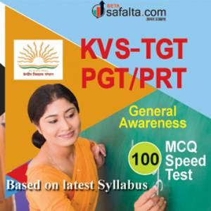 KVS General Awareness Speed Test For TGT, PGT/PRT