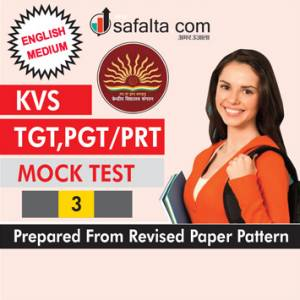 KVS TGT, PGT/PRT Common Paper Mock Test-3 In English