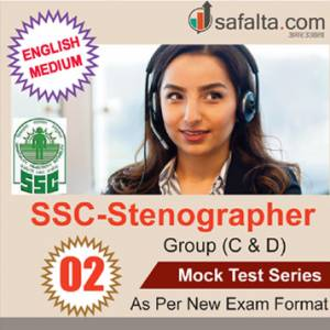Buy SSC Stenographer Group (C & D) - 02 Mock Test Series @ safalta.com