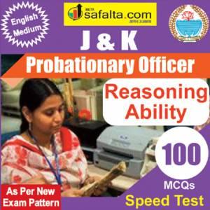 Top 100 Mcqs Reasoning Ability For J&K PO @ safalta.com