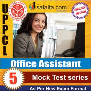 Buy UPPCL Office Assistant 05 Mock Test Series @ Safalta.com