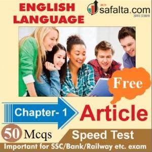 English Language Chapter 1 Article Free Speed Test
