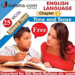 English Language Chapter 2 Time & Tense Free Speed Test