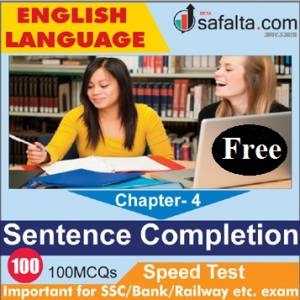 English Language Chapter 4 Sentence Completion Free Speed Test