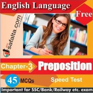 English Language Chapter 3 Preposition Free Speed Test