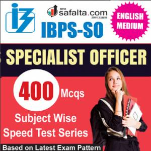 Buy IBPS SO Subject Wise Speed Test Series @ safalta.com