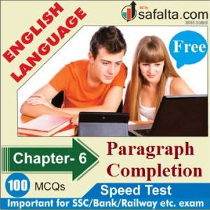 English Language Chapter 6 Paragraph Completion Free Speed Test
