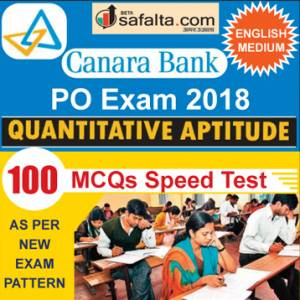 Buy Canara Bank 100 Mcqs Quantitative Aptitude Speed Test @ safalta.com