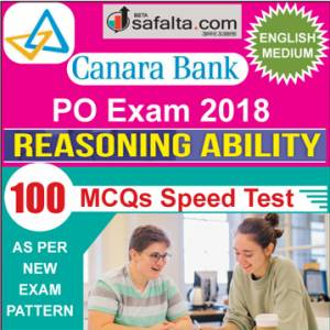 Buy Canara Bank 100 Mcqs Reasoning Ability Speed Test @ safalta.com
