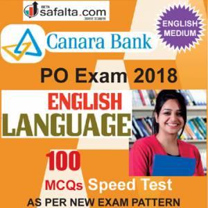Buy Canara Bank 100 Mcqs English Language Speed Test @ safalta.com