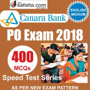 Buy Canara Bank PO Subject Wise Speed Test Series @ safalta.com