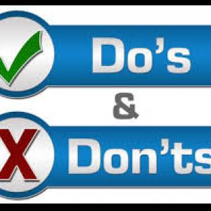 Do's and Donts