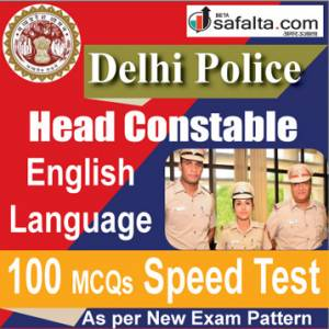 Delhi Police Head Constable 100 Mcqs Speed Test @ safalta.com