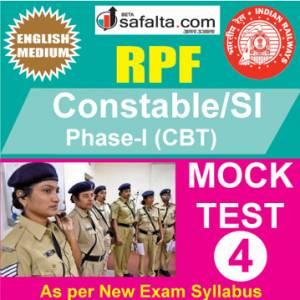 RPF Constable/SI Online Mock Test 4 @ Safalta.com