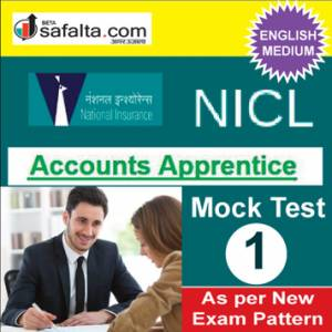 Buy NICL Accounts Apprentices Online Mock Test 1 @ Safalta.com