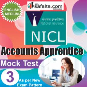 Buy NICL Accounts Apprentices Online Mock Test 3 @ Safalta.com
