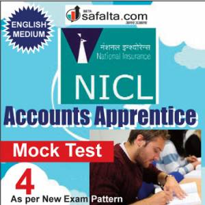 Buy NICL Accounts Apprentices Online Mock Test 04 @ Safalta.com