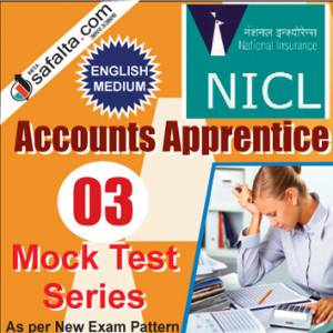 Buy NICL Accounts Apprentices Online 03 Mock Test Series @ Safalta.com