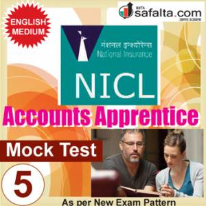 Buy NICL Accounts Apprentices Online Mock Test 05 @ Safalta.com
