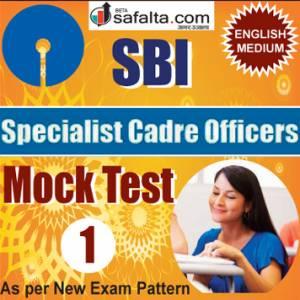 Buy SBI Specialist Cadre Officer Online Mock Test 01 @ Safalta.com