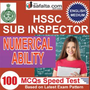 Buy Numerical Ability Speed Test for HSSC Sub Inspector Exam 2018 @ Safalta.com