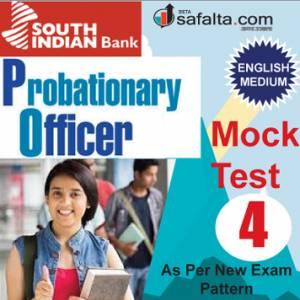 Buy South Indian Bank PO Mock Test-4 @ safalta.com
