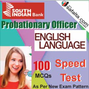 Buy South Indian Bank PO 100 Mcqs English Language Speed Test @ safalta.com