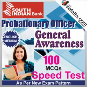 Buy South Indian Bank PO 100 Mcqs General Awareness Speed Test @ safalta.com