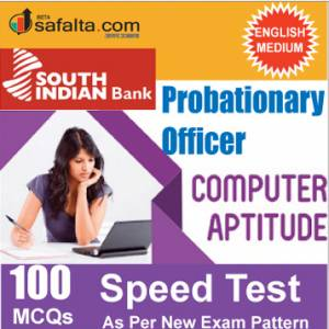 Buy South Indian Bank PO 100 Mcqs Computer Aptitude Speed Test @ safalta.com