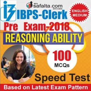 Buy IBPS-Clerk 100 Mcqs Reasoning Ability @ safalta.com