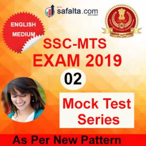 Buy SSC MTS Paper-I 02 Mock Test Series In English @ safalta.com