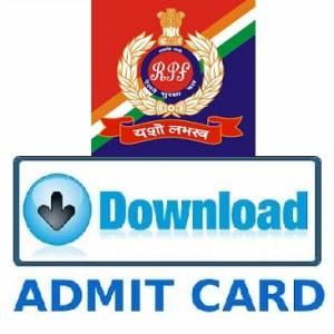 RPF Admit card