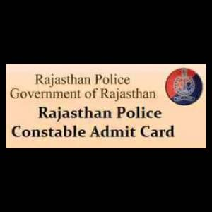 Rajasthan Police Constable Admit Card/Call Letter 2018 Issued ,Download Now At www.police.rajasthan.gov.in