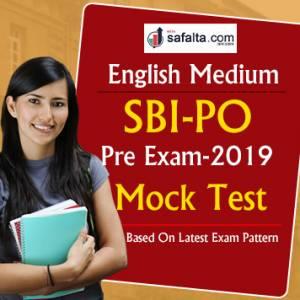 SBI PO Pre Exam 2019 Free Mock Test