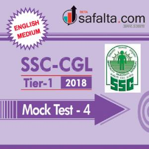 SSC CGL Tier-I Mock Test 4 English