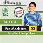 SSC CHSL Pre Mock Test 3