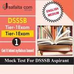 DSSSB Tier-01 Mock Test 1 In English