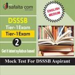 DSSSB Tier-01 Mock Test 2 In English