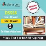 DSSSB Tier-01 Mock Test 5 In English