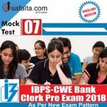 Buy IBPS- Clerk Pre Exam Mock Test 7th Edition @ safalta.com