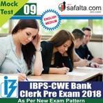 Buy IBPS- Clerk Pre Exam Mock Test 9th Edition @ safalta.com