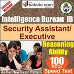 Top 100 Mcqs Reasoning Ability For IB- Security Assistant/Executive