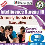 Top 100 Mcqs General Awareness For IB- Security Assistant/Executive